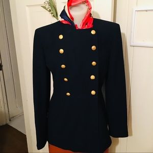 Lauren Military Vintage Blazer -4 Navy USA ,